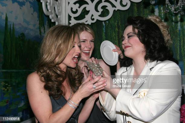 Rebecca Gayheart Lily Rabe Delta Burke with the Armadillo cake