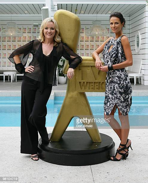 Rebecca Gibney and Esther Anderson pose during the nominations announcement for the 52nd TV Week Logie Awards at The Ivy on March 29 2010 in Sydney...