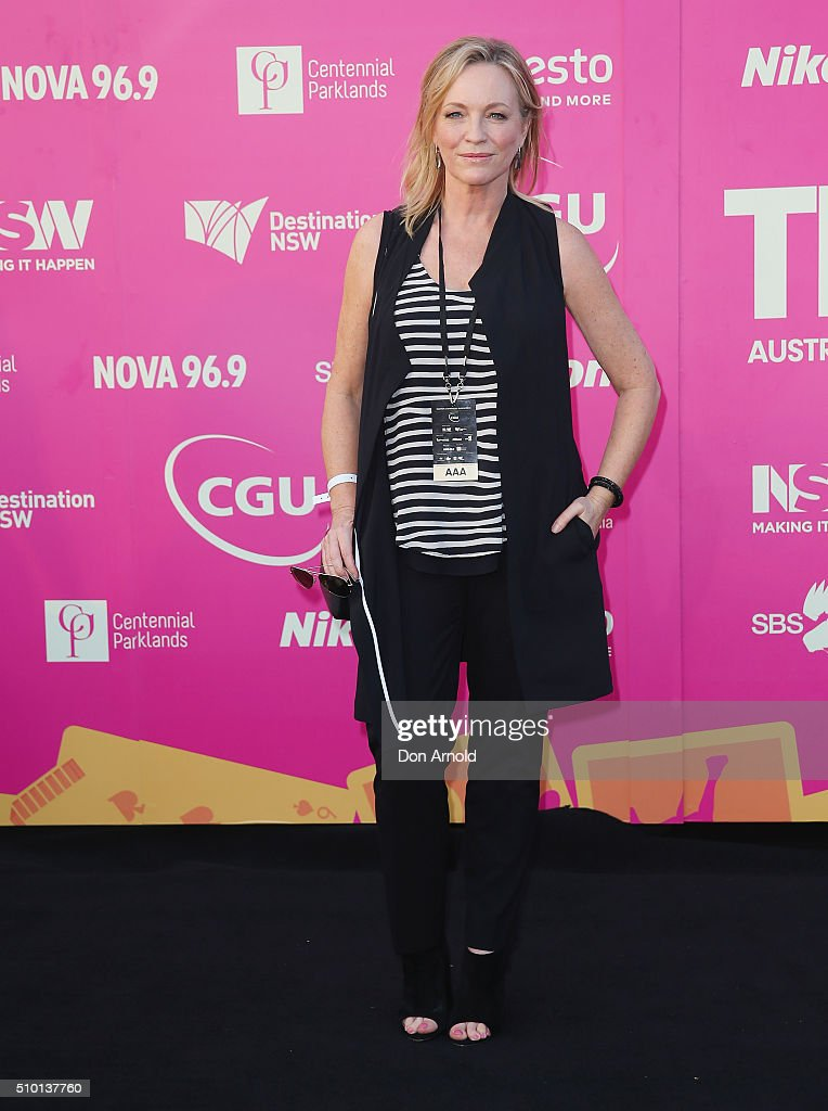 <a gi-track='captionPersonalityLinkClicked' href=/galleries/search?phrase=Rebecca+Gibney&family=editorial&specificpeople=224596 ng-click='$event.stopPropagation()'>Rebecca Gibney</a> arrives ahead of Tropfest 2016 at Centennial Park on February 14, 2016 in Sydney, Australia.