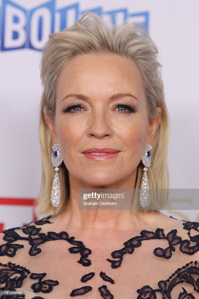 <a gi-track='captionPersonalityLinkClicked' href=/galleries/search?phrase=Rebecca+Gibney&family=editorial&specificpeople=224596 ng-click='$event.stopPropagation()'>Rebecca Gibney</a> arrives at the 2014 Logie Awards at Crown Palladium on April 27, 2014 in Melbourne, Australia.