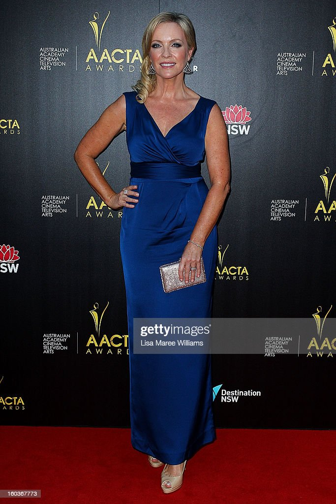 Rebecca Gibney arrives at the 2nd Annual AACTA Awards at The Star on January 30, 2013 in Sydney, Australia.