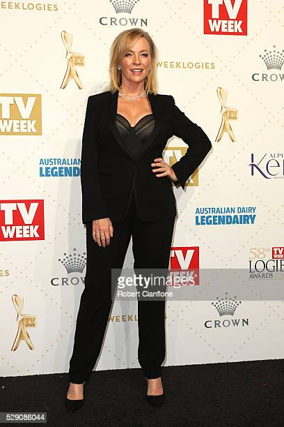 Rebecca Gibney arrives at the 58th Annual Logie Awards at Crown Palladium on May 8 2016 in Melbourne Australia