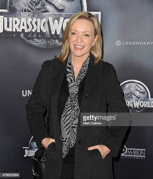 Rebecca Gibney arrives at the Australian Premiere of 'Jurassic World' at Event Cinemas George Street on June 10 2015 in Sydney Australia