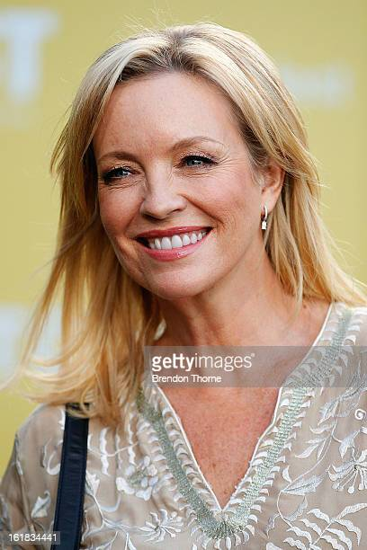 Rebecca Gibney arrives during the Tropfest Short Film Festival at The Domain on February 17 2013 in Sydney Australia