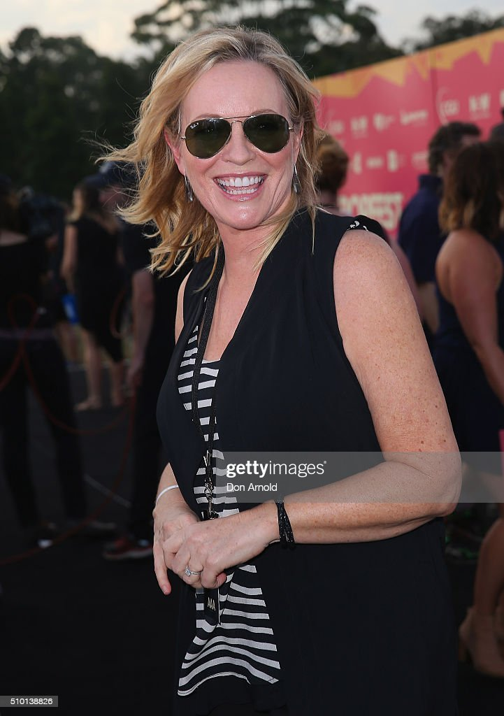 <a gi-track='captionPersonalityLinkClicked' href=/galleries/search?phrase=Rebecca+Gibney&family=editorial&specificpeople=224596 ng-click='$event.stopPropagation()'>Rebecca Gibney</a> is interviewed ahead of Tropfest 2016 at Centennial Park on February 14, 2016 in Sydney, Australia.