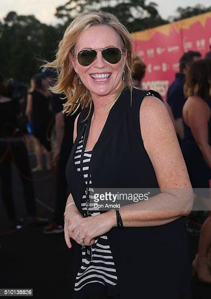 Rebecca Gibney is interviewed ahead of Tropfest 2016 at Centennial Park on February 14 2016 in Sydney Australia