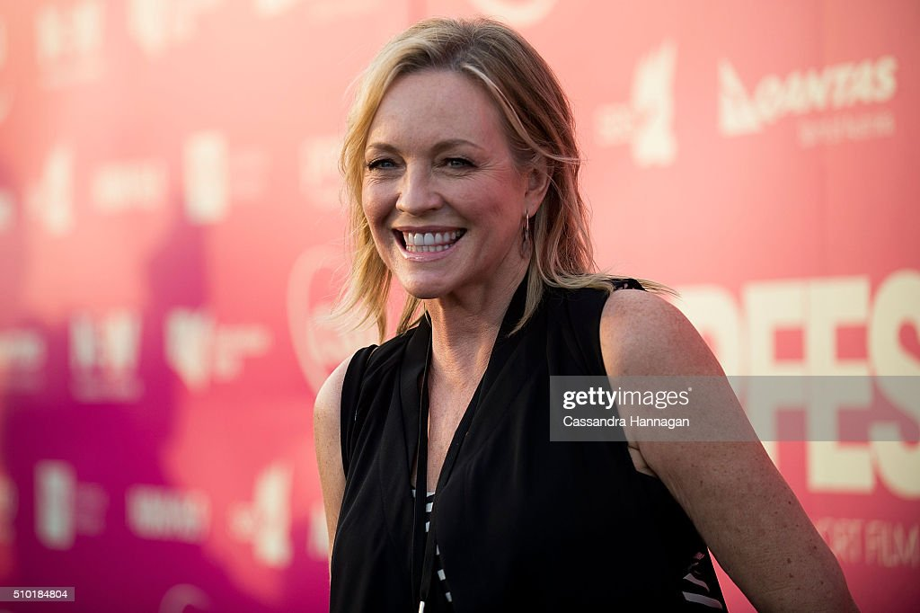 <a gi-track='captionPersonalityLinkClicked' href=/galleries/search?phrase=Rebecca+Gibney&family=editorial&specificpeople=224596 ng-click='$event.stopPropagation()'>Rebecca Gibney</a> poses on the red carpet at Tropfest at Centennial Park on February 14, 2016 in Sydney, Australia.