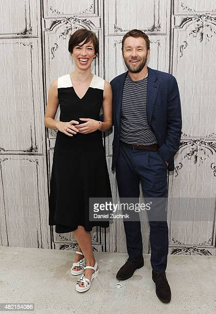 Rebecca Hall and Joel Edgerton attend AOL Build to discuss their film 'The Gift' at AOL Studios on July 27 2015 in New York City
