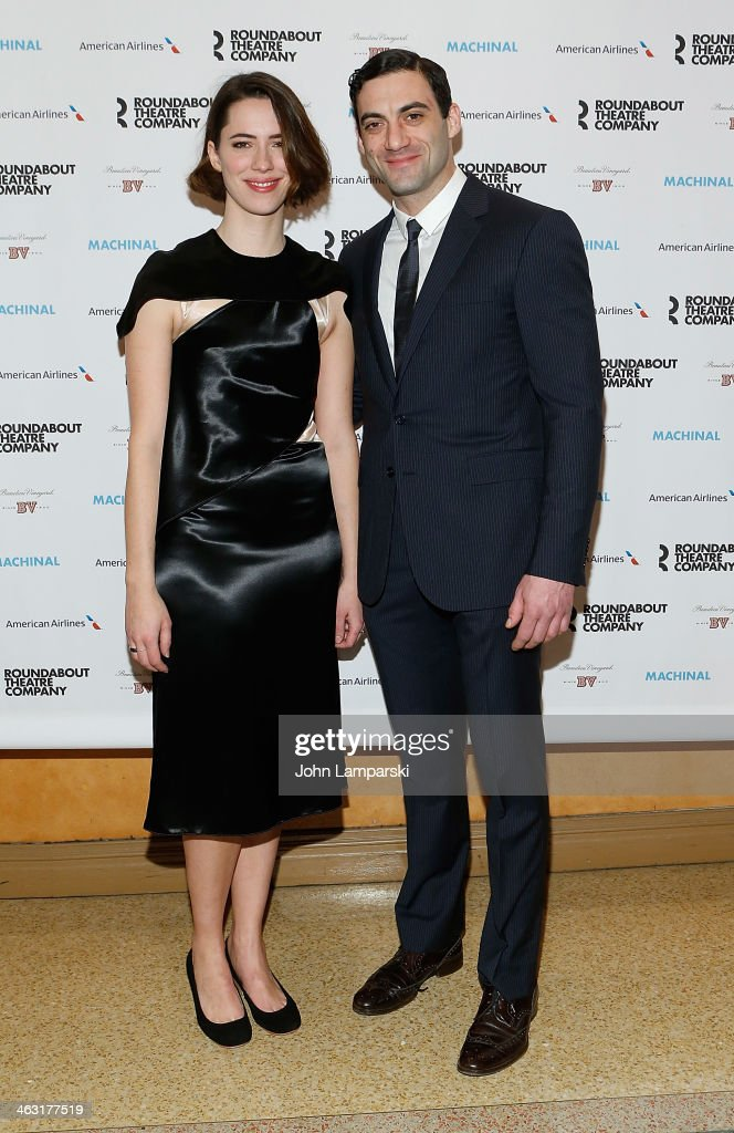 <a gi-track='captionPersonalityLinkClicked' href=/galleries/search?phrase=Rebecca+Hall&family=editorial&specificpeople=778176 ng-click='$event.stopPropagation()'>Rebecca Hall</a> and Morgan Spector attend the Broadway opening night of 'Machinal' at American Airlines Theatre on January 16, 2014 in New York, New York.