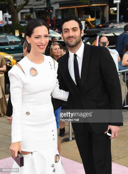 Rebecca Hall and Morgan Spector attend the New York City Ballet's 2017 Fall Fashion Gala at David H Koch Theater at Lincoln Center on September 28...