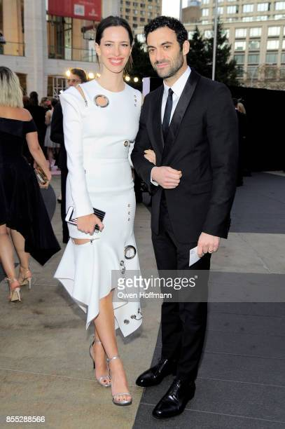 Rebecca Hall and Morgan Spector attends the New York City Ballet's 2017 Fall Fashion Gala on September 28 2017 in New York City