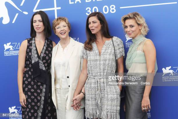Rebecca Hall Annette Bening Anna Mouglalis and Jasmine Trinca attend the Jury photocall during the 74th Venice Film Festival on August 30 2017 in...