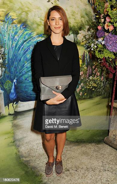 Rebecca Hall arrives at Mulberry Spring/Summer 2014 show during London Fashion Week at Claridges Hotel on September 15 2013 in London England