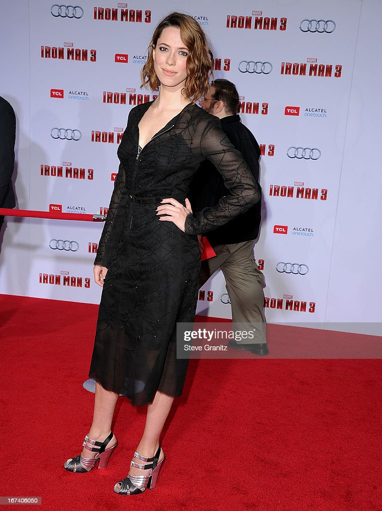 Rebecca Hall arrives at the 'Iron Man 3' - Los Angeles Premiere at the El Capitan Theatre on April 24, 2013 in Hollywood, California.