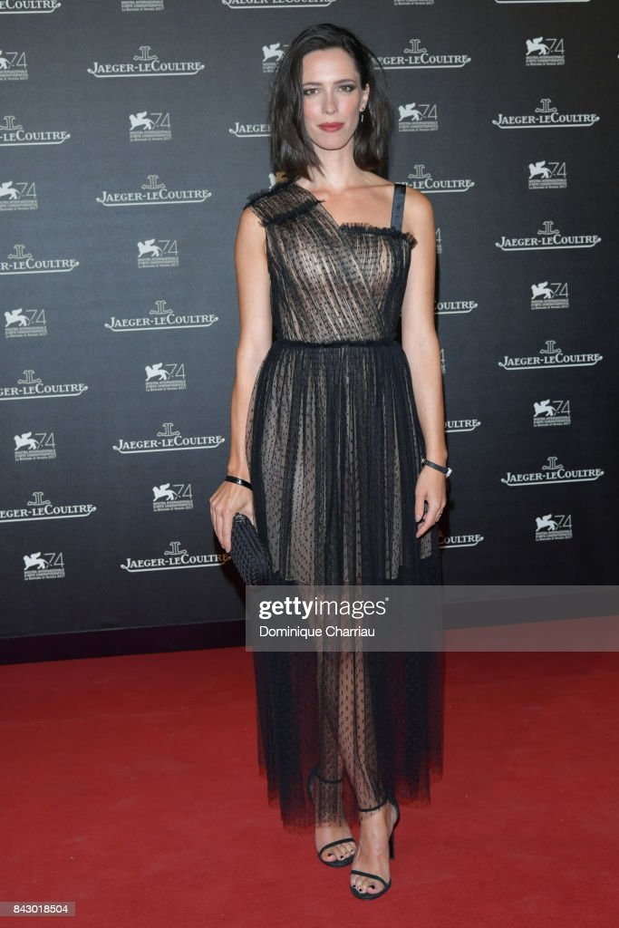 Rebecca Hall arrives for the Jaeger-LeCoultre Gala Dinner during the 74th Venice International Film Festival at Arsenale on September 5, 2017 in Venice, Italy.