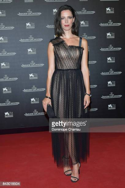 Rebecca Hall arrives for the JaegerLeCoultre Gala Dinner during the 74th Venice International Film Festival at Arsenale on September 5 2017 in Venice...