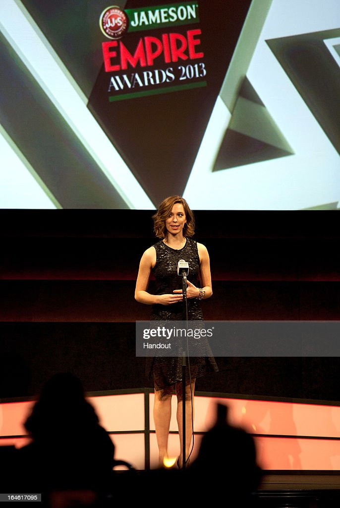 <a gi-track='captionPersonalityLinkClicked' href=/galleries/search?phrase=Rebecca+Hall&family=editorial&specificpeople=778176 ng-click='$event.stopPropagation()'>Rebecca Hall</a> at the Jameson Empire Awards at Grosvenor House on March 24, 2013 in London, England. Renowned for being one of the most laid-back awards shows in the British movie calendar, the Jameson Empire Awards celebrate the film industry's success stories of the year with Empire Magazine readers voting for the winners. Visit empireonline.com/awards2013 for more information.