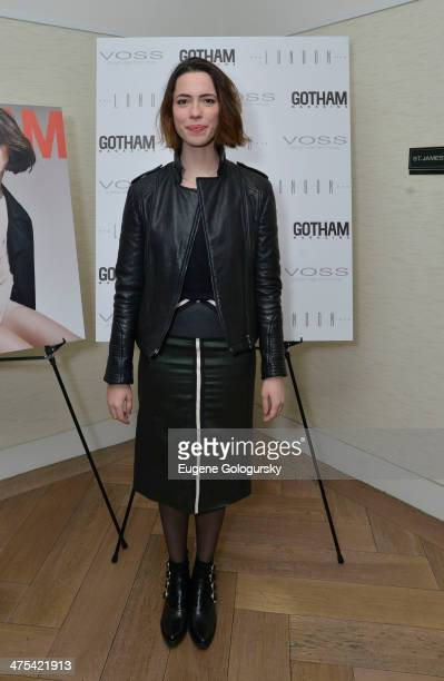 Rebecca Hall attends the Gotham Magazine Celebrates Cover Star Rebecca Hall At The London NYC on February 27 2014 in New York City