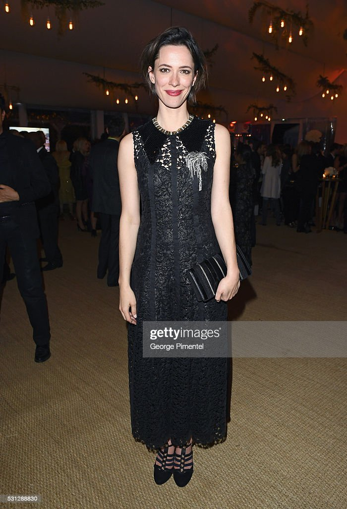 Rebecca Hall attends The Hollywood Foreign Press Association Honour Filmaid International party during The 69th Annual Cannes Film Festival on May 13, 2016 in Cannes, France.