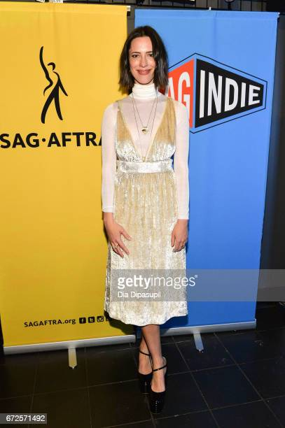 Rebecca Hall attends the SAGindie Party during the 2017 Tribeca Film Festival at Lucky Strike on April 24 2017 in New York City