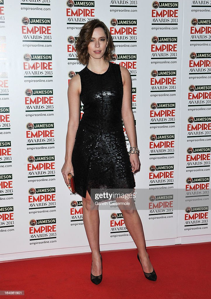 Rebecca Hall is pictured arriving at the Jameson Empire Awards at Grosvenor House on March 24, 2013 in London, England.