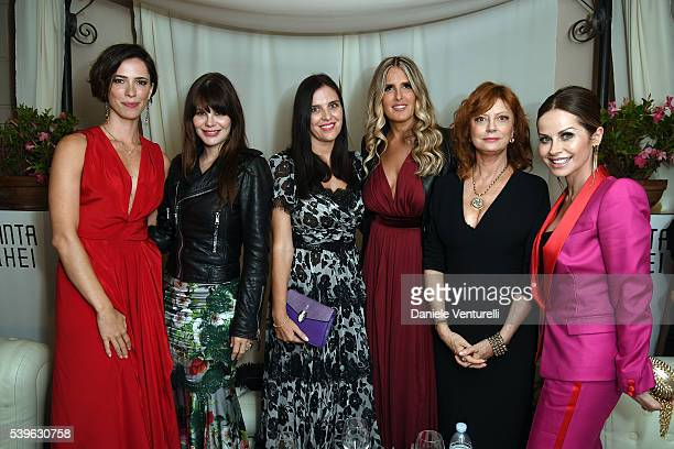 Rebecca Hall Lucila Sola Gisella Marengo Tiziana Rocca Susan Sarandon and Chantal Sciuto attend 62 Taormina Film Fest Day 2 on June 12 2016 in...