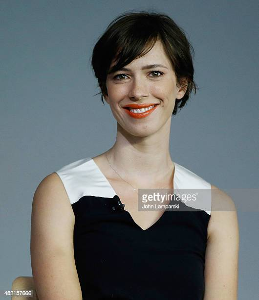 Rebecca Hall speaks during the meet the filmmaker series 'The Gift' at the Apple Store Soho on July 27 2015 in New York City