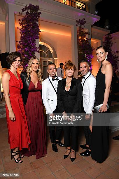 Rebecca Hall Tiziana Rocca Susan Sarandon Rianne ten Haken Dean Caten and Dan Caten attend 62 Taormina Film Fest Dinner Party Day 2 on June 12 2016...