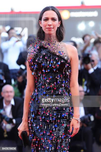 Rebecca Hall walks the red carpet ahead of the 'Downsizing' screening and Opening Ceremony during the 74th Venice Film Festival at Sala Grande on...