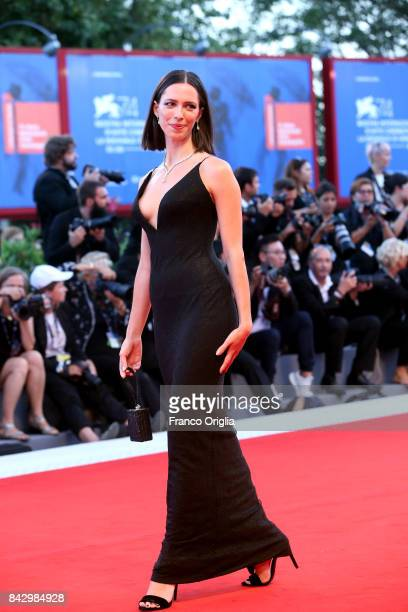 Rebecca Hall walks the red carpet ahead of the 'mother' screening during the 74th Venice Film Festival at Sala Grande on September 5 2017 in Venice...