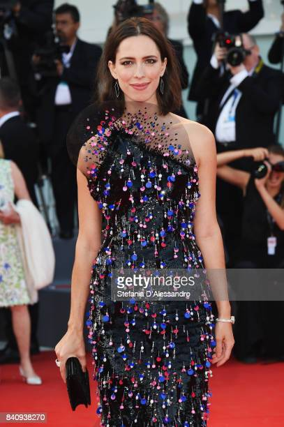 Rebecca Hall wearing a RendezVous Ivy Secret watch walks the red carpet ahead of the 'Downsizing' screening and Opening Ceremony during the 74th...