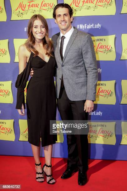 Rebecca Harding and Andy Lee arrives ahead of opening night of My Fair Lady at Regent Theatre on May 16 2017 in Melbourne Australia