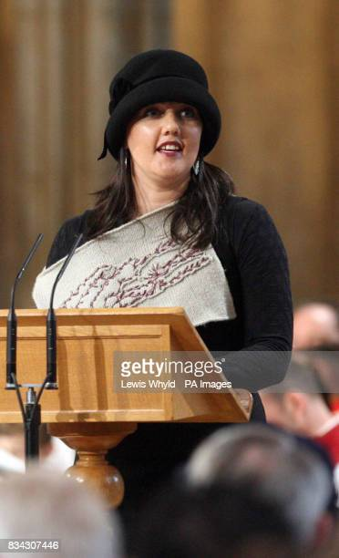 Rebecca Hayman during the service of Thanksgiving for the life of Sir Edmund Hillary at St George's Chapel Windsor