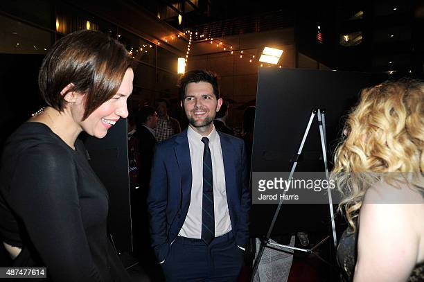 Rebecca Henderson Adam Scott and Natasha Lyonne attend the Premiere of IFC Films' 'Sleeping With Other People' at ArcLight Cinemas on September 9...
