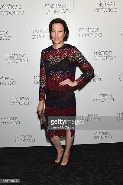 Rebecca Henderson attends the 'Mistress America' New York Premiere at Landmark Sunshine Cinema on August 12 2015 in New York City
