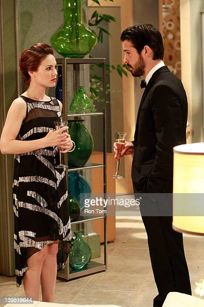 HOSPITAL Rebecca Herbst and Jason Cook in a scene that airs the week of February 20 2012 on ABC Daytime's 'General Hospital' 'General Hospital' airs...
