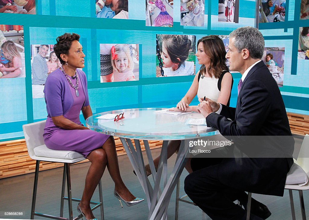 AMERICA - Rebecca Jarvis and Dr. Richard Besser on 'Good Morning America,' 5/6/16, airing on the ABC Television Network. ROBIN