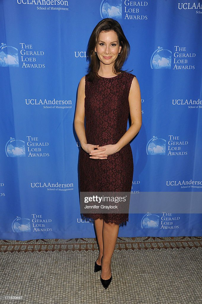 Rebecca Jarvis attend the 2013 Gerald Loeb Awards on June 25, 2013 in New York City.