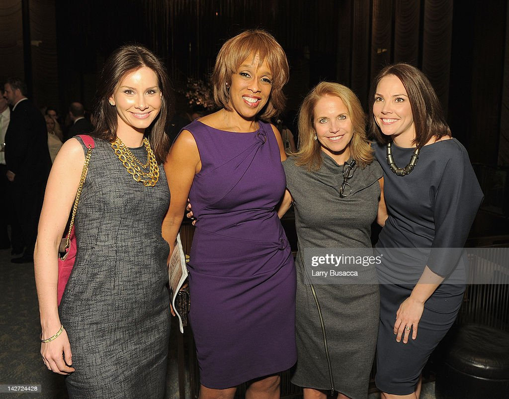 Rebecca Jarvis, <a gi-track='captionPersonalityLinkClicked' href=/galleries/search?phrase=Gayle+King&family=editorial&specificpeople=215469 ng-click='$event.stopPropagation()'>Gayle King</a>, <a gi-track='captionPersonalityLinkClicked' href=/galleries/search?phrase=Katie+Couric&family=editorial&specificpeople=202633 ng-click='$event.stopPropagation()'>Katie Couric</a> and Erica Hill attend the Hollywood Reporter celebration of 'The 35 Most Powerful People in Media' at the Four Season Grill Room on April 11, 2012 in New York City.