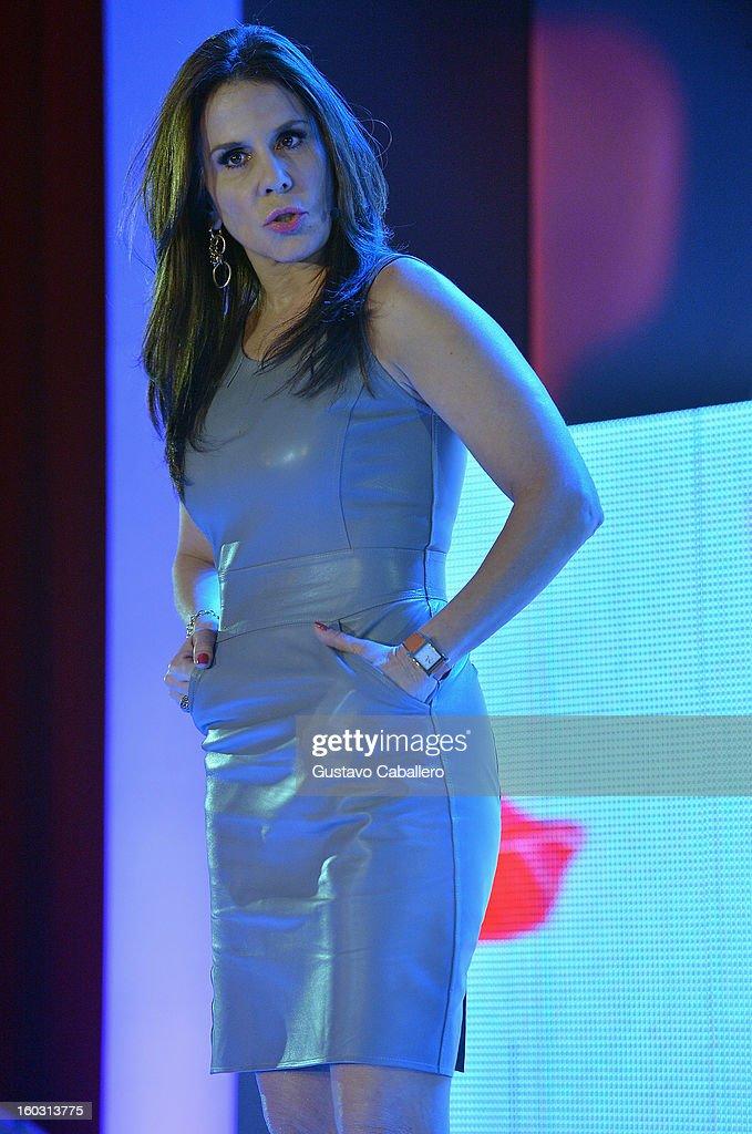 Rebecca Jones attends Telemundo NATPE 2013 Press Conference And Luncheon at Eden Roc Hotel on January 28, 2013 in Miami Beach, Florida.