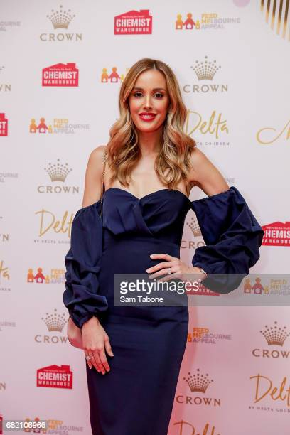 Rebecca Judd arrives ahead of the Crown Celebrity Mother's Day Luncheon on May 12 2017 in Melbourne Australia