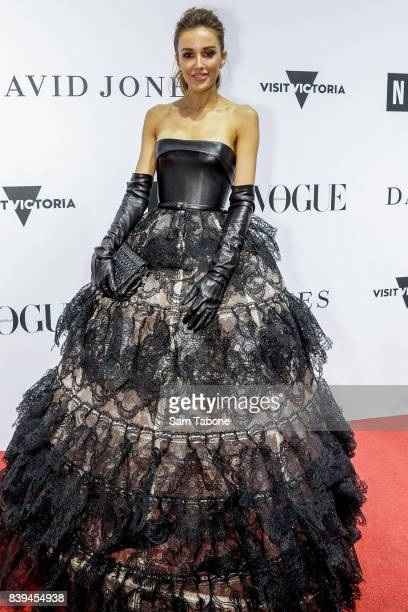 Rebecca Judd arrives ahead of the NGV Gala at NGV International on August 26 2017 in Melbourne Australia