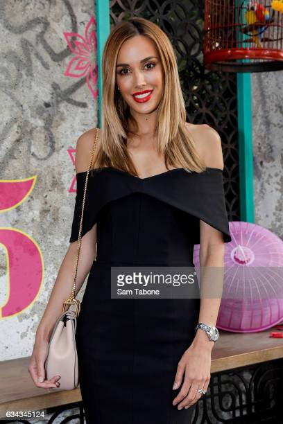 Rebecca Judd arrives ahead of the official launch of David Thompson's Long Chim Melbourne at Crown Riverwalk on February 9 2017 in Melbourne Australia