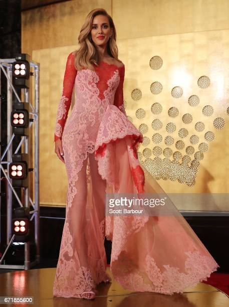 Rebecca Judd arrives at the 59th Annual Logie Awards at Crown Palladium on April 23 2017 in Melbourne Australia