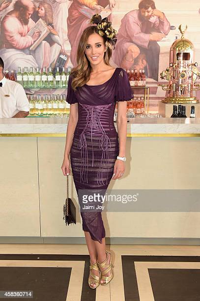 Rebecca Judd at the Lavazza Marquee on Melbourne Cup Day at Flemington Racecourse on November 4 2014 in Melbourne Australia