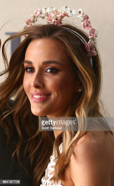 Rebecca Judd attends the David Jones Marquee on Caulfield Cup Day at Caulfield Racecourse on October 21 2017 in Melbourne Australia