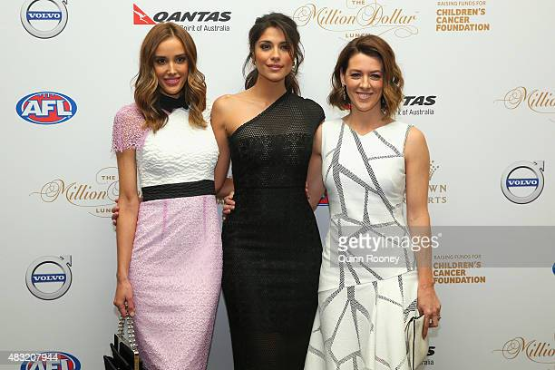 Rebecca Judd Pia Miller and Gorgi Coghlan arriveahead of the Children's Cancer Foundation's annual fundraiser the Million Dollar Lunch at Crown...