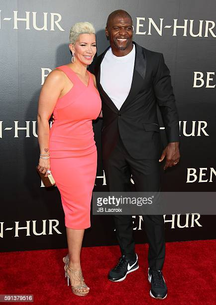 Rebecca KingCrews and Terry Crews attend the premiere of Paramount Pictures' 'BenHur' on August 16 2016 in Hollywood California