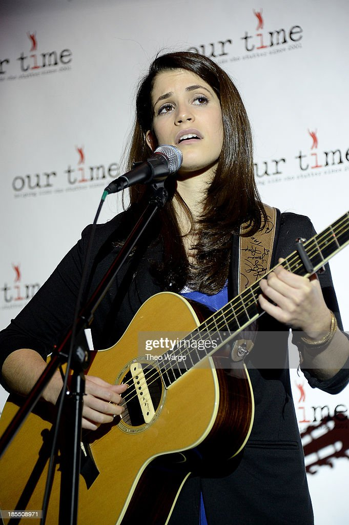 Rebecca Klein performs during the Paul Rudd 2nd Annual All-Star Bowling Benefit at Lucky Strike on October 21, 2013 in New York City.
