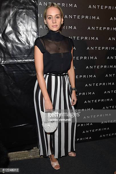 Rebecca Larsson attends the Anteprima show during Milan Fashion Week Fall/Winter 2016/17 on February 25 2016 in Milan Italy
